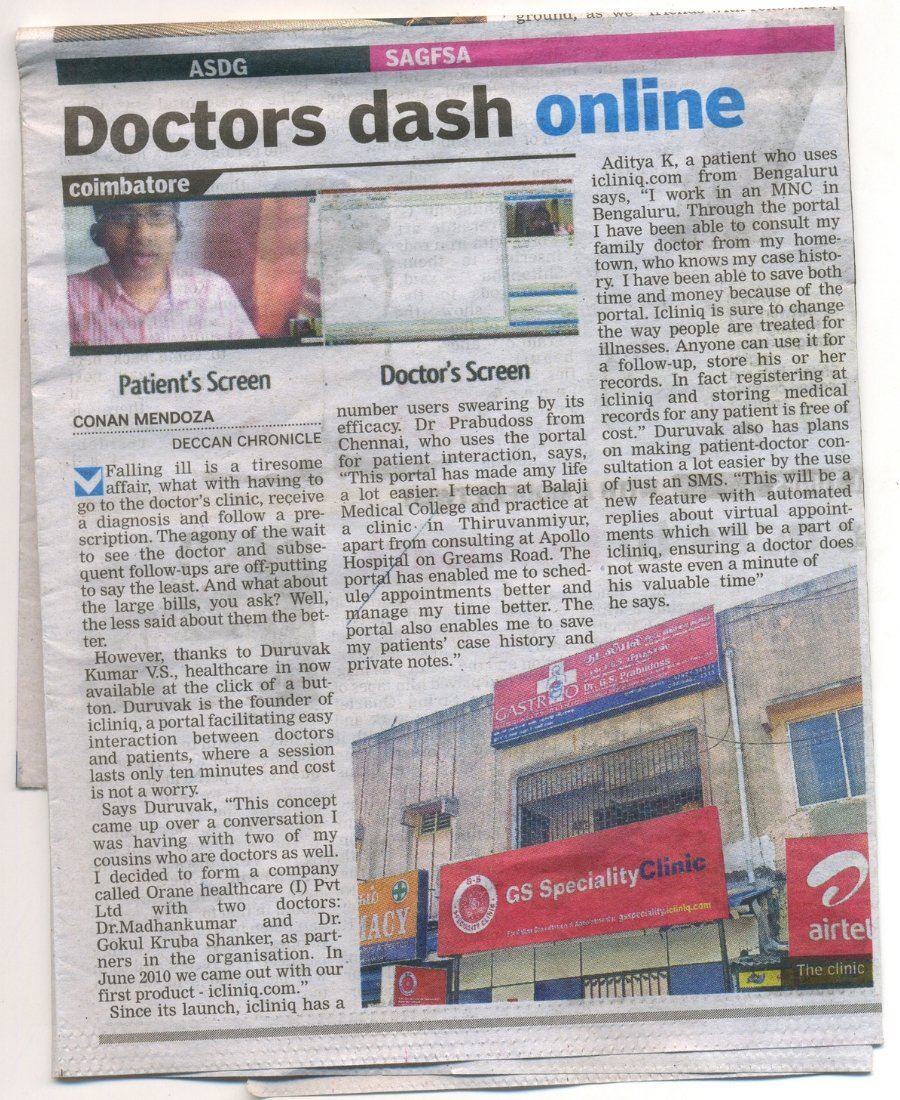 Doctors dash online – iCliniq on media