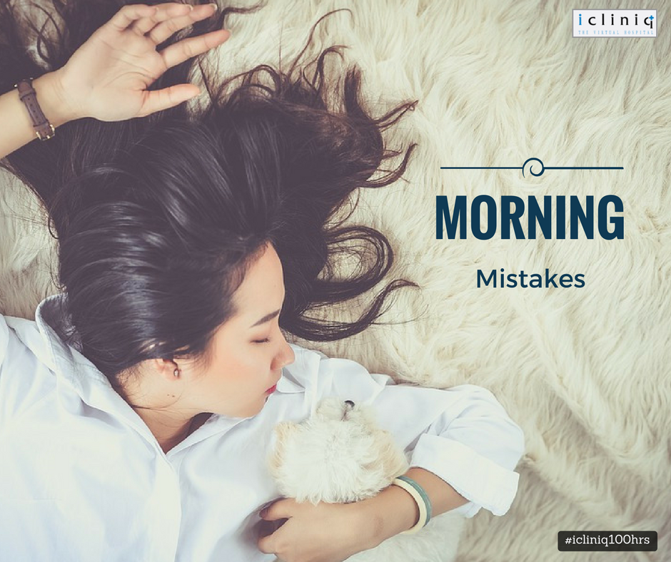 Morning mistakes