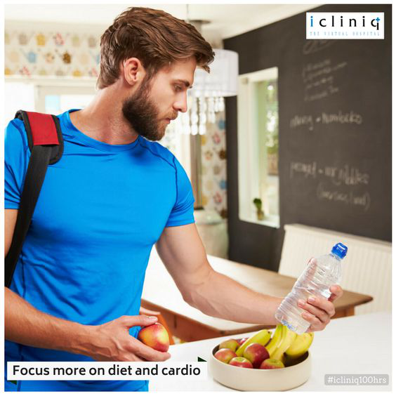 Focus more on diet and cardio