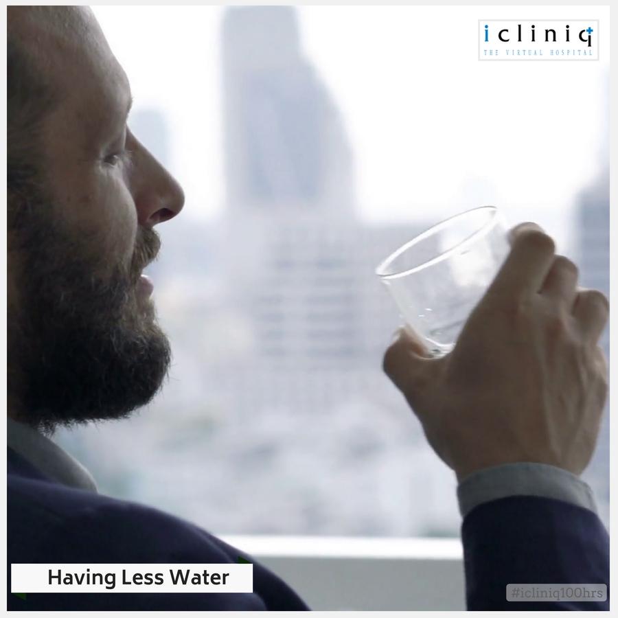 HAVING LESS WATER
