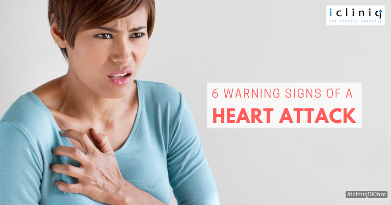 6 Warning Signs of a Heart Attack