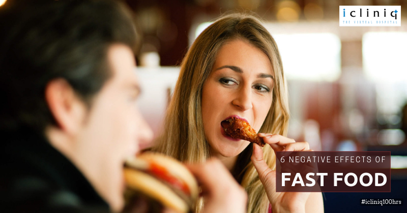 6 Negative Effects of Fast Food